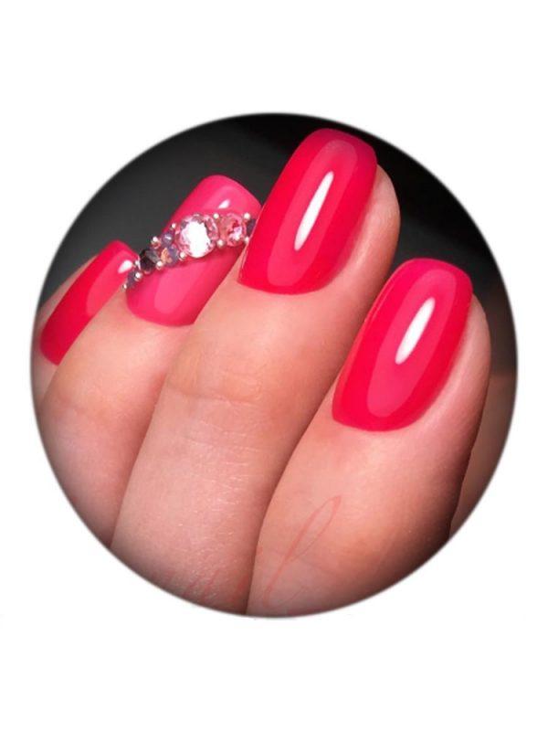 UNO, Гель–лак №129 Shocking Pink — «Шокирующий розовый»