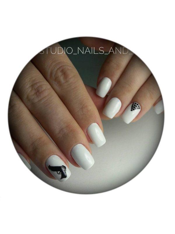 UNO, Гель–лак №07 Ultra White — «Ультра белый» коллекции French