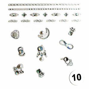 Набор наклеек для дизайна ногтей «Фреска ювелирная №10»