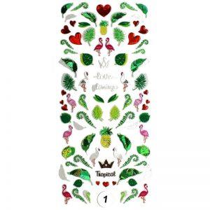 Набор наклеек для дизайна ногтей «Фреска ювелирная №1»