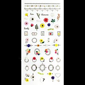 Набор наклеек для дизайна ногтей «Фреска ювелирная №7»