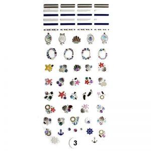 """Набор наклеек для дизайна ногтей """"Фреска ювелирная №3"""""""