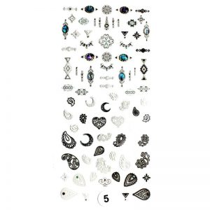 Набор наклеек для дизайна ногтей «Фреска ювелирная №5»