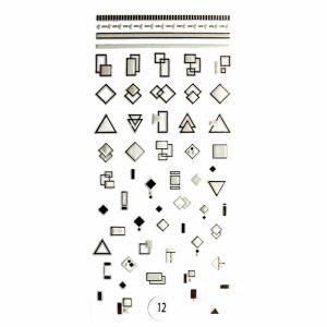 Набор наклеек для дизайна ногтей «Фреска ювелирная №12»