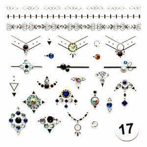 """Набор наклеек для дизайна ногтей """"Фреска ювелирная №12"""" (маленькая)"""