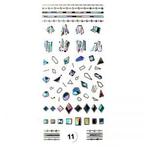 Набор наклеек для дизайна ногтей «Фреска ювелирная №11»