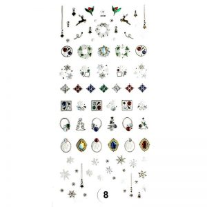 Набор наклеек для дизайна ногтей «Фреска ювелирная №8»
