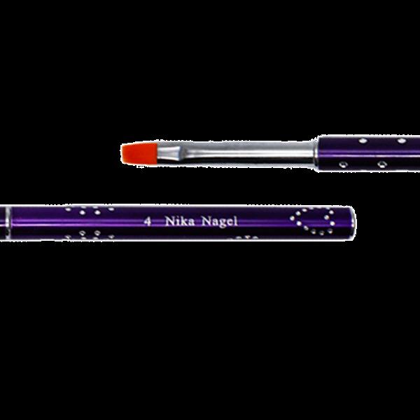 Кисть для геля (китайская роспись) фиолетовая №4