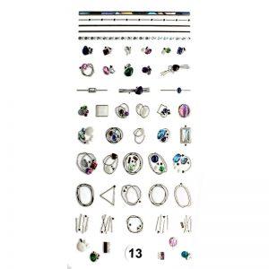 Набор наклеек для дизайна ногтей «Фреска ювелирная №13»