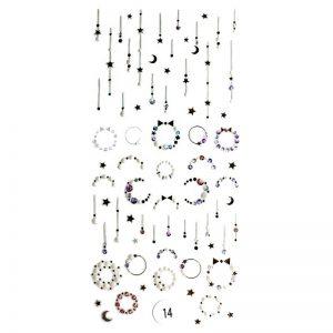 Набор наклеек для дизайна ногтей «Фреска ювелирная №14»