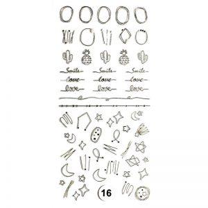 Набор наклеек для дизайна ногтей «Фреска ювелирная №16»