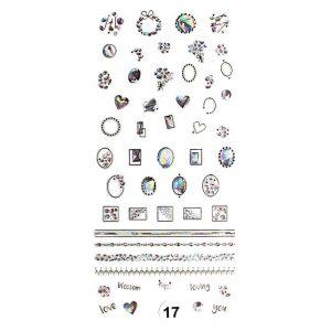 Набор наклеек для дизайна ногтей «Фреска ювелирная №17»