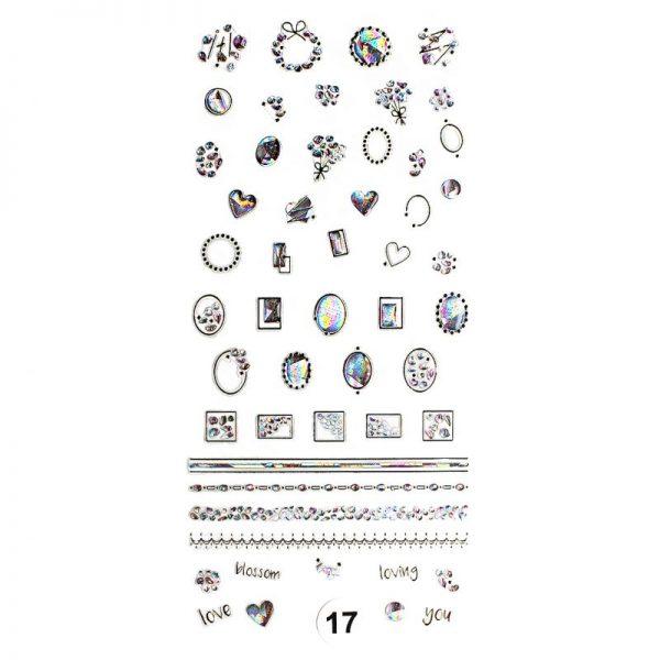 """Набор наклеек для дизайна ногтей """"Фреска ювелирная №17"""""""