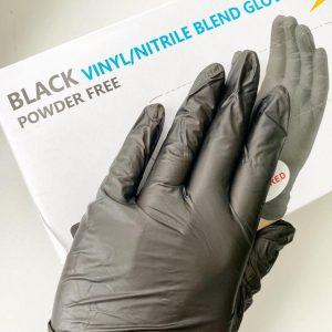 Перчатки нитровиниловые Powder Free